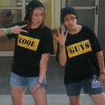 I am a huge Outrageous Fortune fan and for my first university party dressed up as van! Tool guys for life!