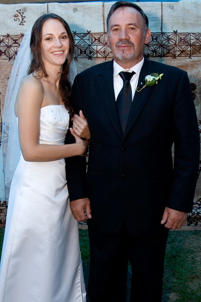 My Wedding Dress with my Dad This is my memory of my Special Day It makes me feel Happy and Positive!  It will always be in my wardrobe for My two beautiful girls who like to dress up in my Dress for Fun. I even wear it to Fancy Dress Party as a Bride Zilla Killer! My Dress is about Love, Share and Fun