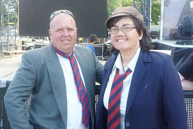 My husband is a huuuuuuuuuuuuuge ACDC fan, so when they came to Auckland, I went all out and went to Savemart and got us these ridiculous schoolboy costumes to wear. My husband had an absolute ball at the concert and loved our outfits. Fun times :-)