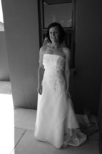 I was privileged enough to be able to wear my oldest sisters' wedding dress on my own wedding day.. The gown was beautiful i was honoured to wear it ..