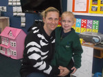 Here is a pic of me and my wee girl on her 1st day of school, I am wearing my favourite Zebra Print hoodie with ears. I am a huge huge fan of animal print and have so many different items of clothing in animal print in my wardrobe but this hoodie is my fav. I always get comments on it, especially to do with the ears that are on the hood. Hardly a day goes by when I am not wearing something that contains animal print.
