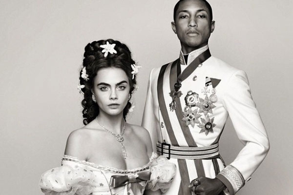 Cara Delevigne and Pharrell sing for Chanel