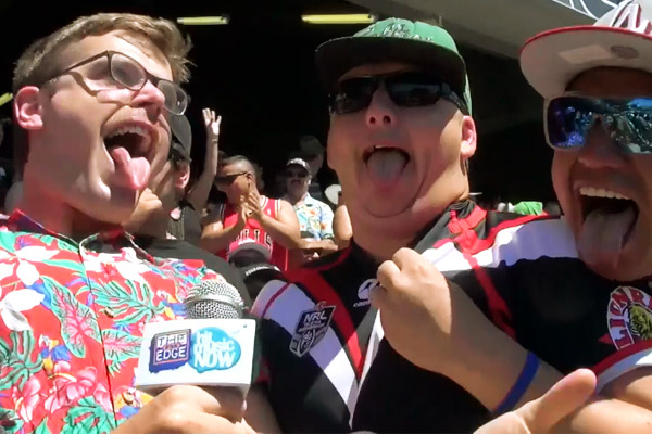 Guy does the Dick Smith NRL Auckland Nines 2014