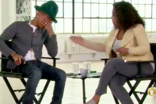 Pharrell cries watching the world dancing to 'Happy'
