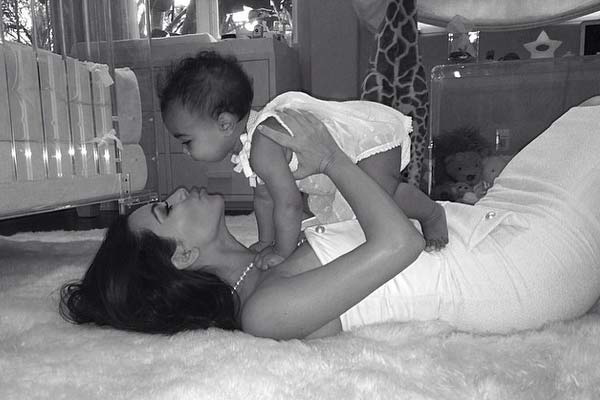What did Kanye do for Kim for Mother's Day?