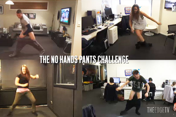The No Hands Pants Challenge...The Edge Edition