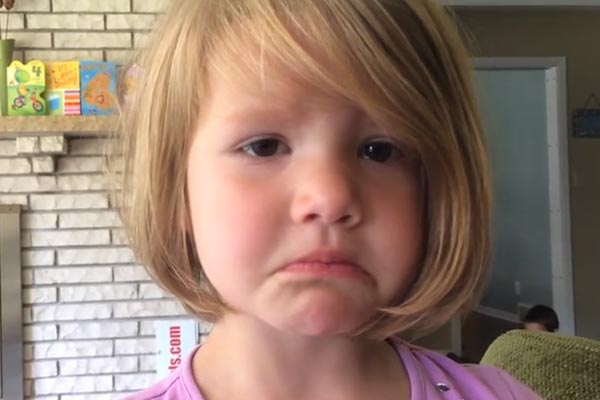 4yr old finds out she's deleted a photo and is heartbroken