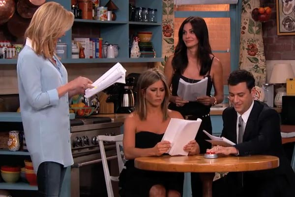 Friends cast reunite on Jimmy Kimmel