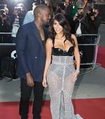 Kanye West & Kim Kardashian - AAP Images