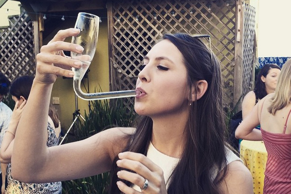 The champagne funnel is here and it's classy AF