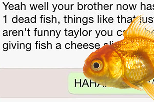 This girl's text convo with her mum after killing brother's fish goes viral
