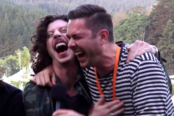 Marty & Clint catch up with the boys from Peking Duk