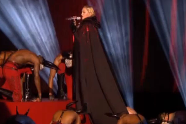 Madonna suffers an epic fall at the Brit Awards