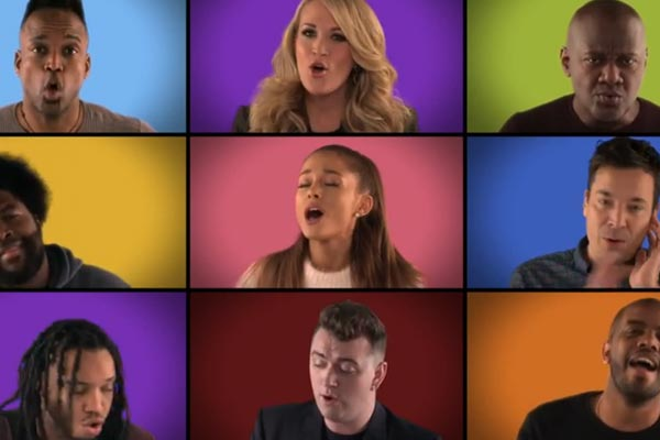 "Jimmy Fallon and a whole lotta musical superstars nail ""We Are The Champions"""