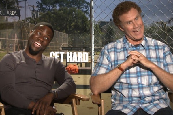 Steph's hilarious chat with 'Get Hard' stars Will Ferrell and Kevin Hart