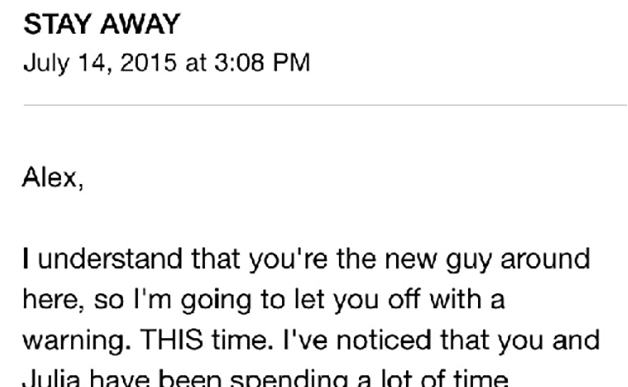 Check out this creepy email!