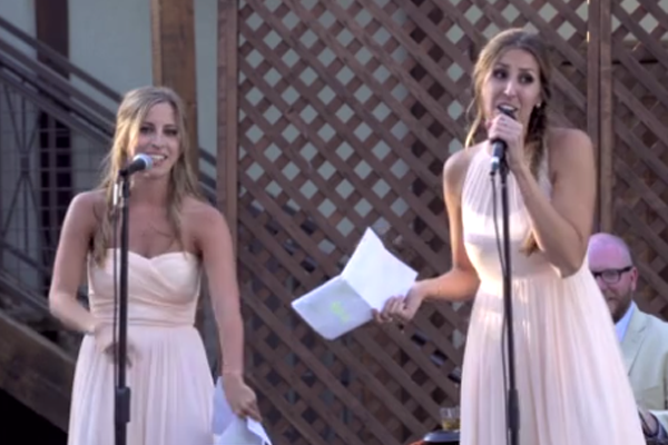 Sisters deliver the best wedding speech of all time