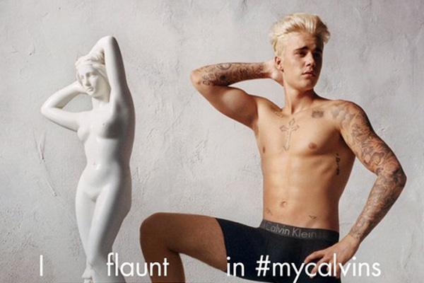 Justin Bieber flaunts his junk in new Calvin Klein ad