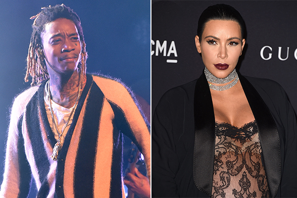 Wiz Khalifa plays Kim Kardashian SEX TAPE on stage during concert