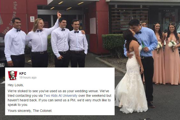 KFC finally responds to VIRAL wedding photo