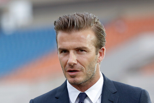 David Beckham bought a cold paramedic and patient a hot drink