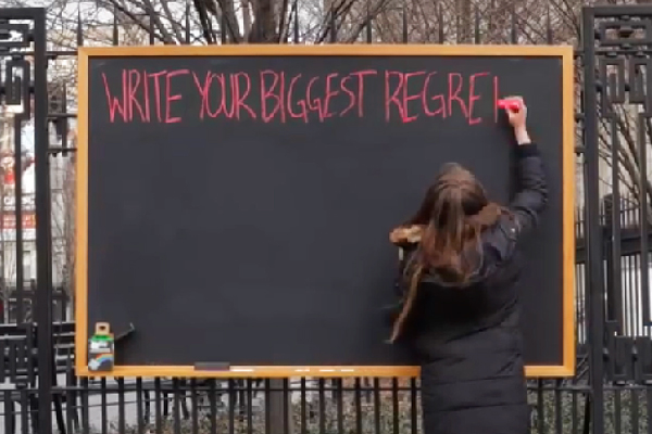 WATCH: Strangers share their BIGGEST life regrets in public