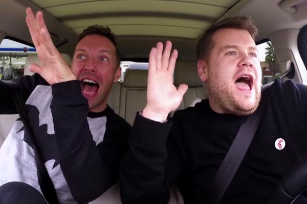 WATCH: Chris Martin and James Corden take Carpool Karaoke to the NEXT level