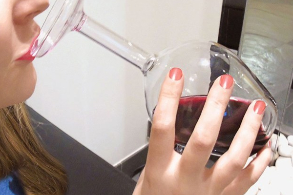 This 'upside down' wine glass will make you LOOK as drunk as you FEEL