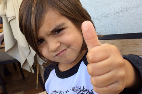PHOTOS: Kourtney Kardashian just DYED 6-year-old Mason's hair BLACK
