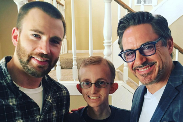 Chris Evans and Robert Downey Jr. just made a cancer patient's dream come true!