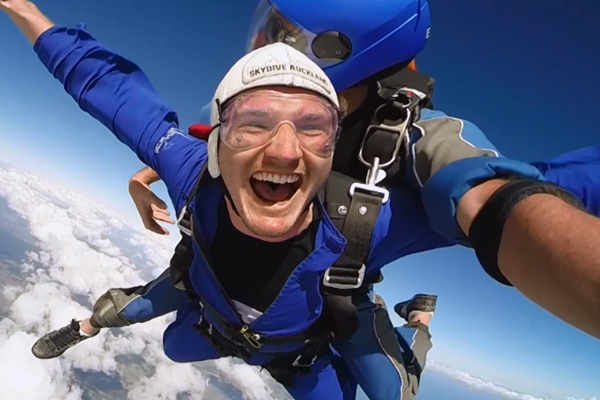 Marty just JUMPED 13,000 feet for a listener!