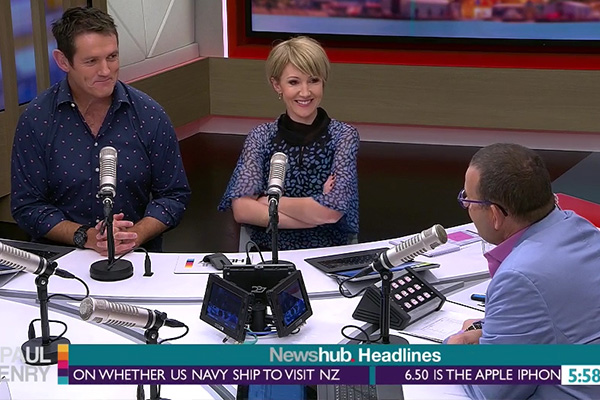 WATCH: Paul Henry accidentally calls new co-host 'Hilary' on her first day