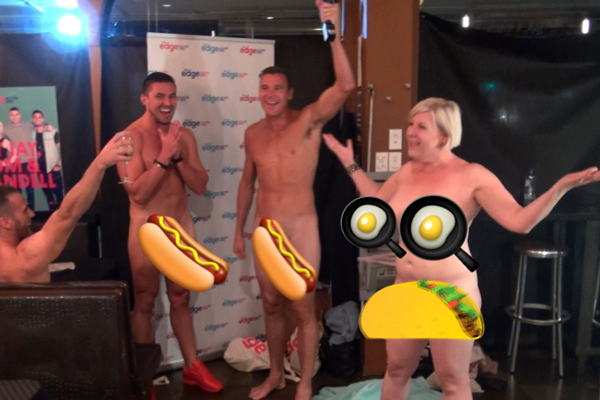 Jay Jay, Dom and Randell get fully NAKED at the world's first naked restaurant!