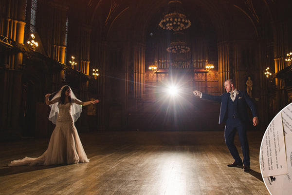 PHOTOS: This couple's 'Harry Potter' themed wedding is EVERYTHING