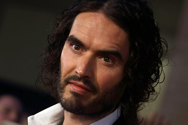 Russell Brand looks UNRECOGNISABLE in this pic!