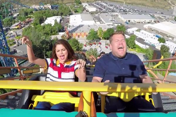 Selena Gomez joins James Corden on a ROLLERCOASTER for 'Carpool Karaoke'