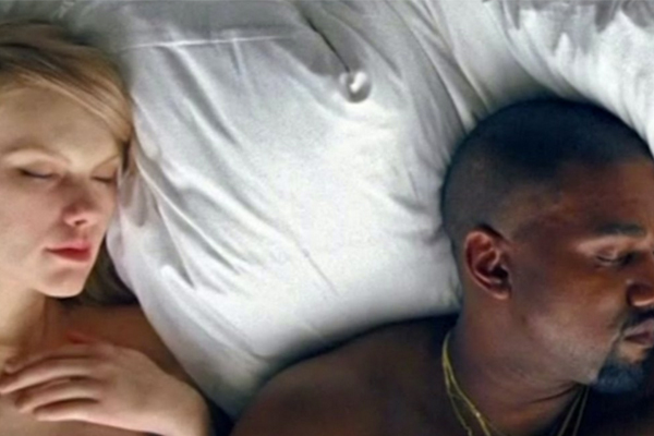 Taylor Swift gets completely NAKED in Kanye's new video!