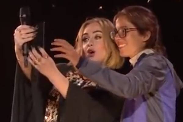 Adele just BURPED in a fans face!