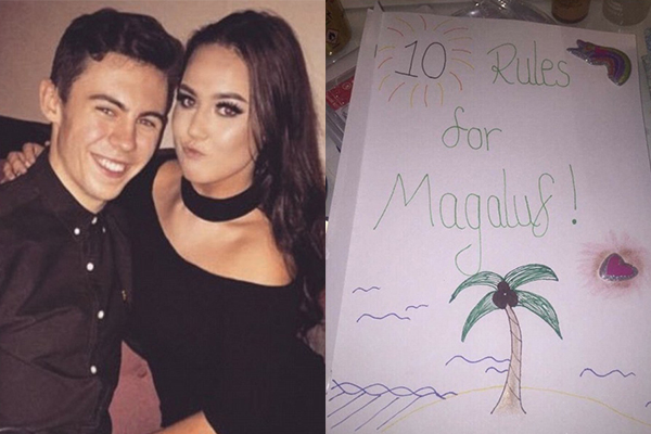 Girlfriend created a RULE BOOK for her boyfriend's overseas trip