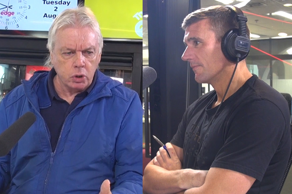 Dom has a full on ARGUMENT with a conspiracy theorist LIVE on-air!