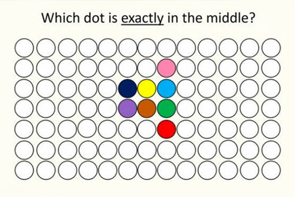 The internet is going CRAZY over which dot is in the middle of this pic!