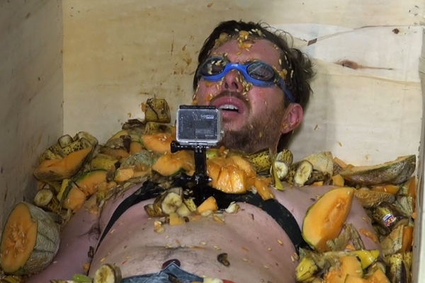 Guy gets the ULTIMATE payback by completely submerging Clint in ROTTEN FRUIT!