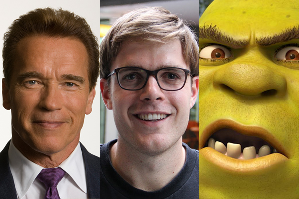 Guy Williams impersonates Arnold Schwarzenegger in the movie Shrek