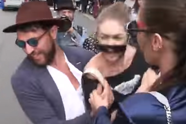 Gigi Hadid just elbowed a guy in the face after fashion show attack!