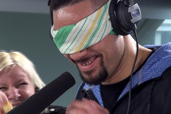 WATCH: Joe Parker sniffs Randell's babies dirty nappy while blindfolded