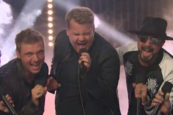 James Corden just fulfilled your childhood dream of performing with the Backstreet Boys